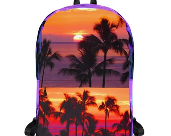 e73e2a0c8762 Backpack sunset | Etsy