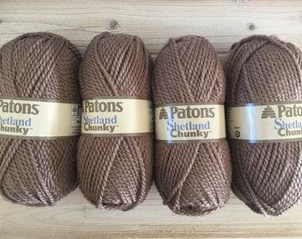 4 skeins of Patons Shetland Chunky - Taupe