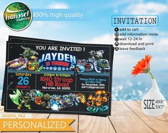 Skylander invitation etsy skylanders party invitation skylanders birthday invitation skylanders invitation skylanders invitations skylanders party skylanders filmwisefo