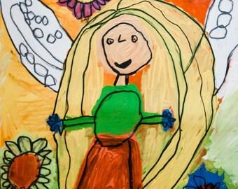 Roma Child Painting