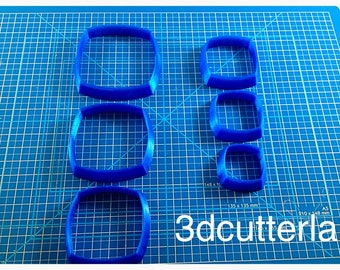 Set of 6 cutters for polymeric and metal clay pastes