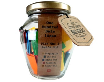 100 Date Ideas - Pick One & Let's Go - Unique Thoughtful Gift - Memorable Gift - Unique Present - Artisan Handcrafted Gift