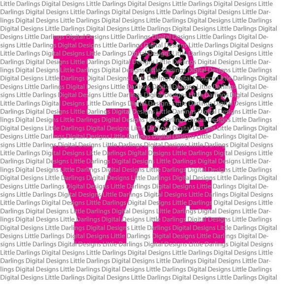 Leopard Print Love Valentine S Day Shirt Svg Leopard Etsy