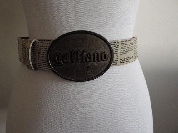 Dior John Galliano Printed Press Belt
