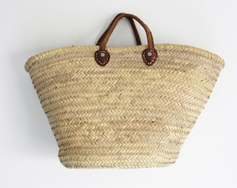 Hand made woven Moroccan Basket tote