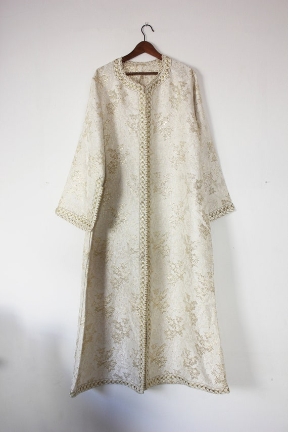 Vintage gold and white kaftan (moroccan)