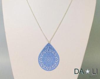 """""""Drop necklace"""", blue"""