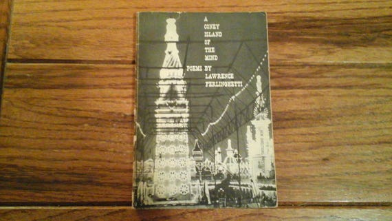 A Coney Island Of The Mind Poems Lawrence Ferlinghetti 1958 Beat Poet Classic Lit 1st Edition Poetry Book Beat Beatnik Jazz Accompaniment