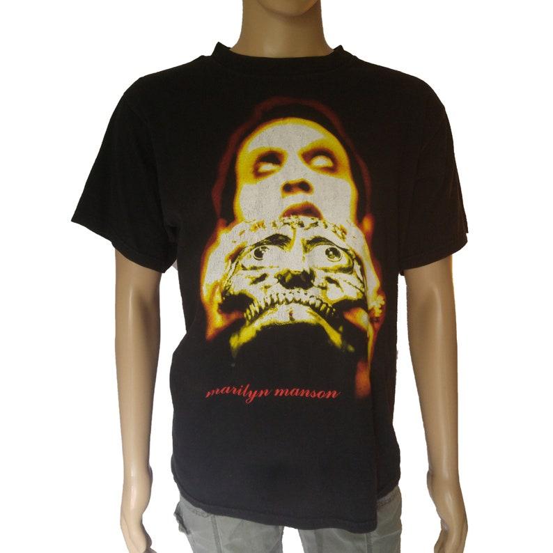 3a740b0dea28 Vintage 1997 Marilyn Manson Shirt Mens Size Large Antichrist | Etsy