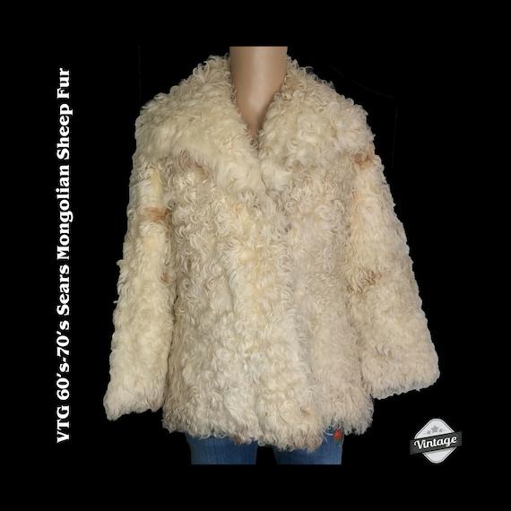 Vintage 60s 70s Sears Penny Lane Mongolian Sheep A
