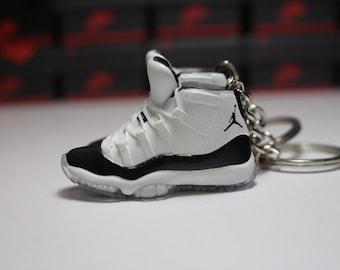 daa0e80ae53d88 Handmade 3D Sneaker Keychains AJ 11