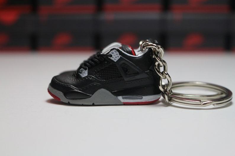 eaa827b973e6b8 Handmade 3D Sneaker Keychains AJ 4 Bred