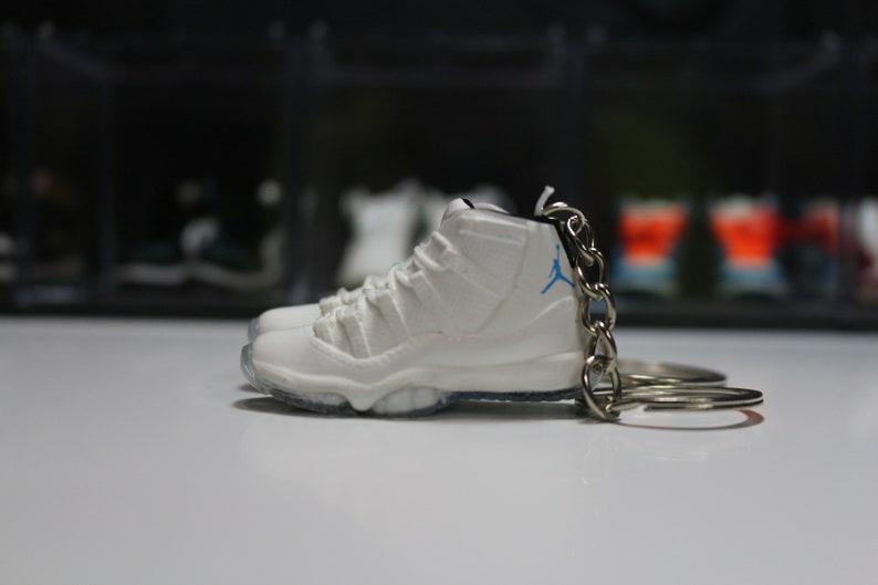 ce648c261d3877 Handmade 3D Sneaker Keychains AJ 11 LEGEND BLUE
