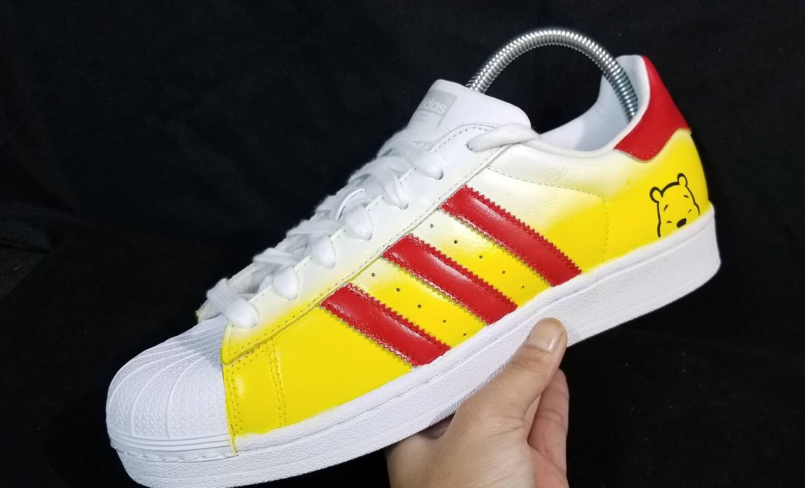Adidas Superstar Winnie the Pooh Collab Custom shoes  9b5b46db4