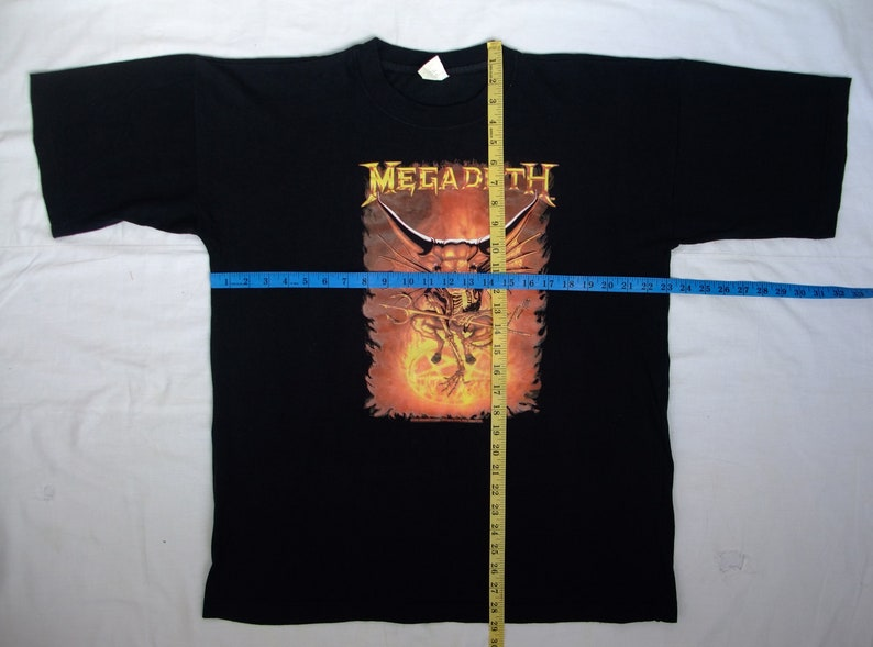 """New MegaDeth /' Red/' 1 1//4 X 5 /"""" Inch Iron on Patch Free Shipping"""
