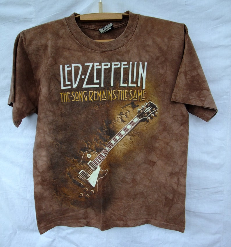 LED ZEPPELIN 90s rare original tie dye promo Uk jimmy page robert plan the  song remains the same tee t-shirt Medium
