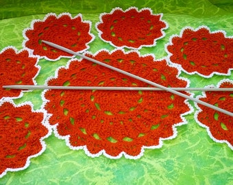 Сrocheted Doilies / Set from 7PCS