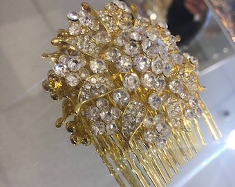 Classy gold and  silver hair accessory