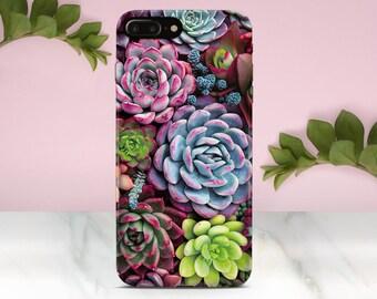 Succulents iPhone 8 Case Samsung S7 case iPhone X Case iPhone 7 Case iPhone 6S Plus Case Galaxy S8 Plus Case Samsung S6 Case iPhone 8 Plus