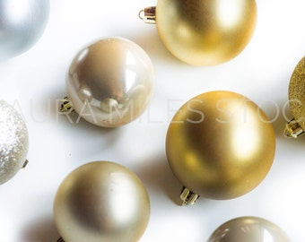 Christmas Ornaments Background Mockup / Styled Stock Photography / Christmas Image / Digital Image