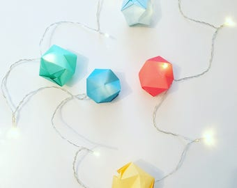 Kit DIY, origami string light