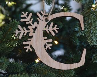 Snowflake Letter 'C'