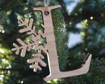 Snowflake Letter 'L'
