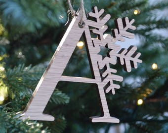 Snowflake Letter 'A'