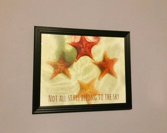 Starfish Downloadable Print, Not All Stars Belong To The Sky Print