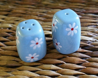 Boho Chic Ceramic Salt and Pepper Shakers