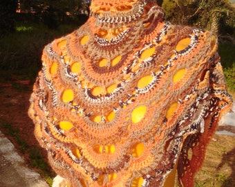 Handmade virus pattern scarf