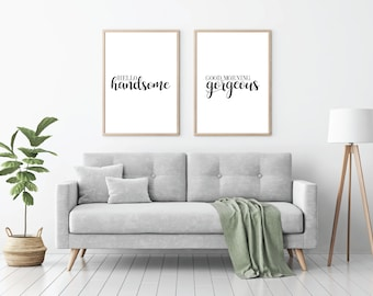 Genial Home Wall Prints | Minimalist Prints | Set Of 2 Prints | Bedroom Prints |  Monochrome Wall Art | Pretty Wall Art | Bedroom Wall Art