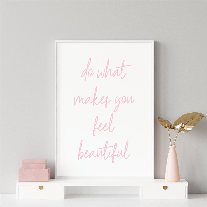 Beauty Salon Quote Modern A4 A3 Wall Art Poster Print