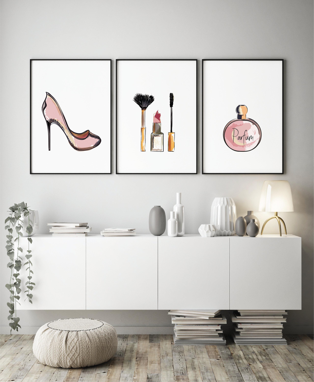 makeup wall art fashion print home decor studio decor makeup