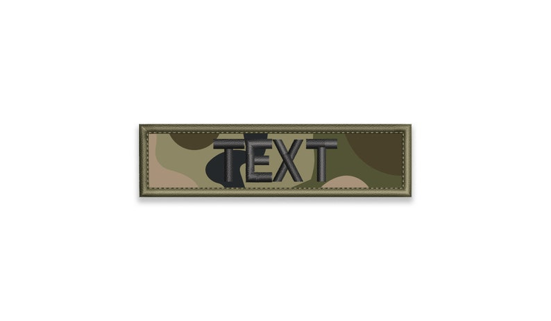 40ff6f43c Multicam Name Tape Embroidered patch 1x3 up to | Etsy