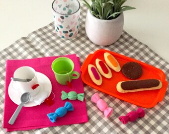 "Collectible felt ""Tea time"" (candy, cookie tray, the Flash)"
