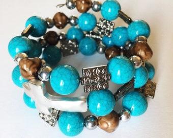 Darling beaded memory wire bracelet!