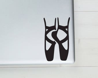 "Ballet Slippers Vinyl Sticker Decal 3.5""x6"""