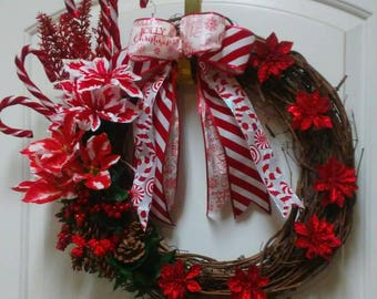 Candycane Christmas Wreath