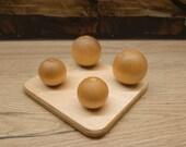 Montessori Toys, Wooden Balls On Small Pegs