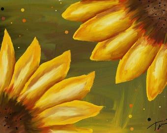 Painting flowers tornesoles