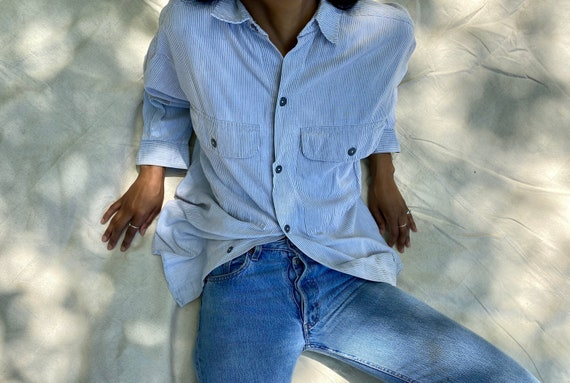Minimalist Oversized Shirt / Calvin Klein Pinstrip
