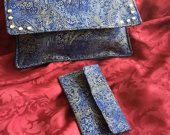 Blue Evening Purse with Matching Coin Purse