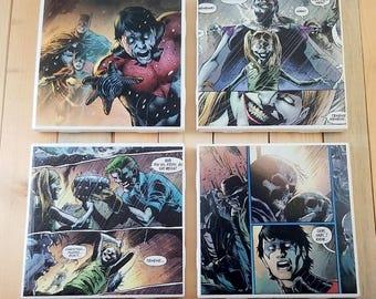 Dark Night Comic Book Coaster Set