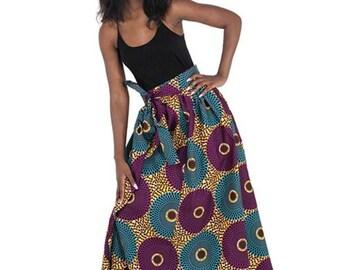 Velvet Circle Print Skirt