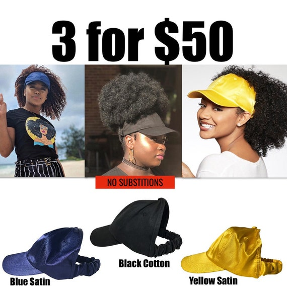 CurlCap Value Pack Natural Hair Hats, dad hat, Protective Styles Hats, Cold Weather Accessories, Afro Hair Care, Kinky Curly Hair