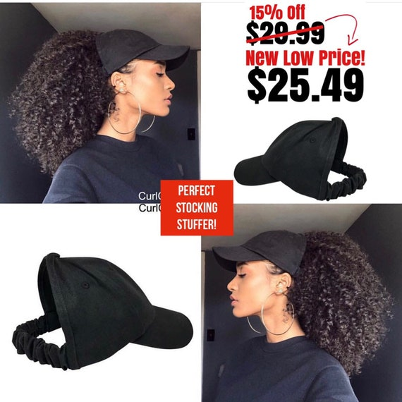 Satin Lined Baseball Cap, Satin bonnet , scrunchie, hats for natural hair, satin hair cap , Backless Hat, Curl cap,