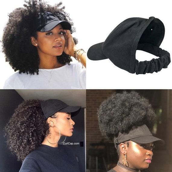 Black Baseball Hat, Curlcap, Curlcaps, Curly Hair, Natural Hair, Hair Accessories, Head Wraps For Women, Afro, Natural Hair Hat, Ladies Hat