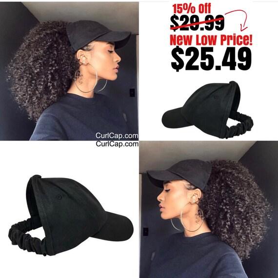Satin Lined Baseball Cap, Satin bonnet , scrunchie, hats for natural hair, satin hair cap , Backless Hat, Curl cap,
