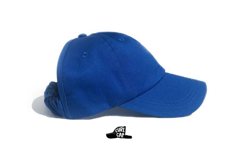 Blue Baseball Hat, Curlcap, Curlcaps, Curly Hair, Natural Hair, Hair  Accessories, Head Wraps For Women, Afro, Natural Hair Hat, Ladies